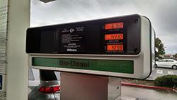 Our van runs on biodiesel.