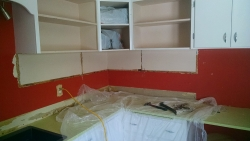 This photo shows how the bottom shelves have been removed.