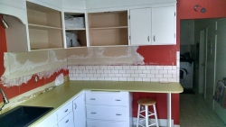 Another view of the subway tile progress