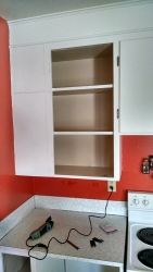 Another example of the older-style cabinets