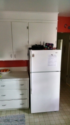 This shows the original placement of the refrigerator.