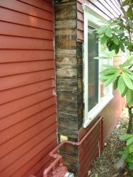 Old cedar siding replaced with Hardiplank on 16th St.