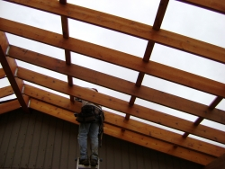 Construction of a clear panel deck cover
