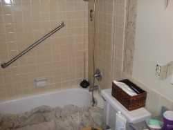 Shot from approximately the same angle, showing the old shower.